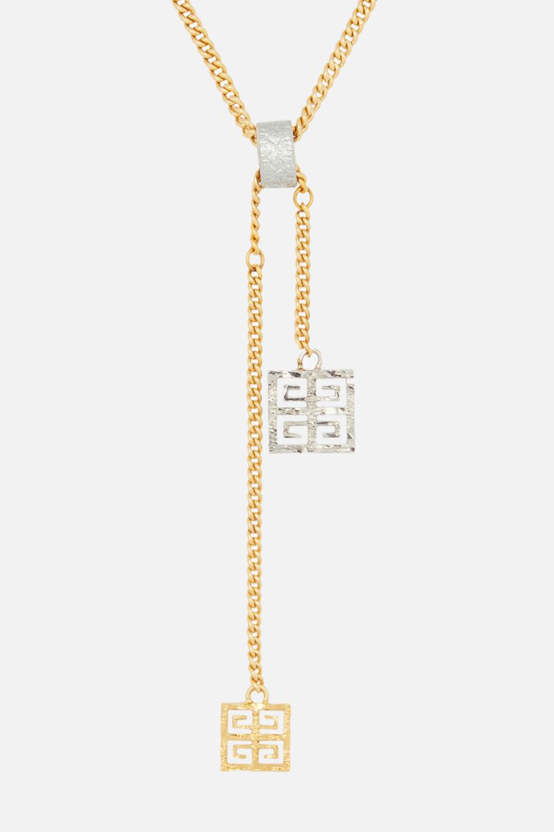 GIVENCHY: 4G pendant necklace in bronze Color Multicolor_2