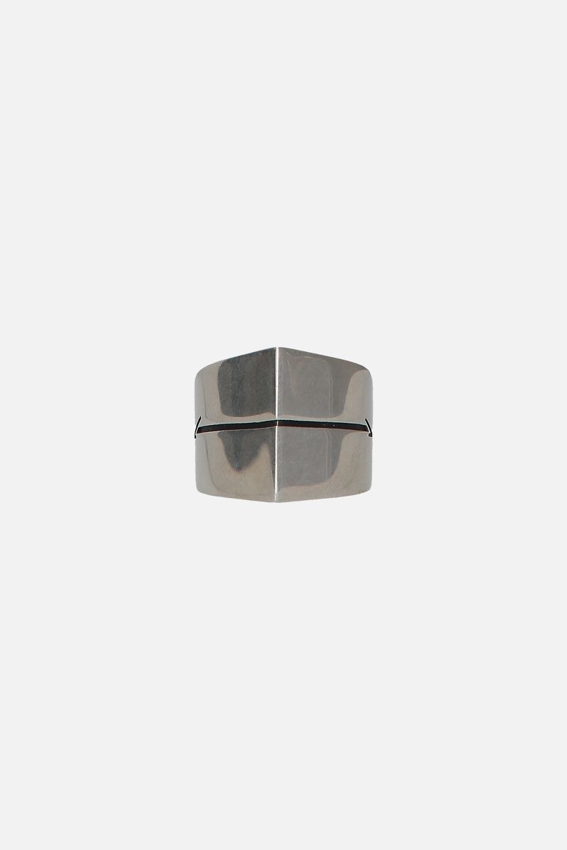 GIVENCHY: Arrow brass ring Color Silver_1