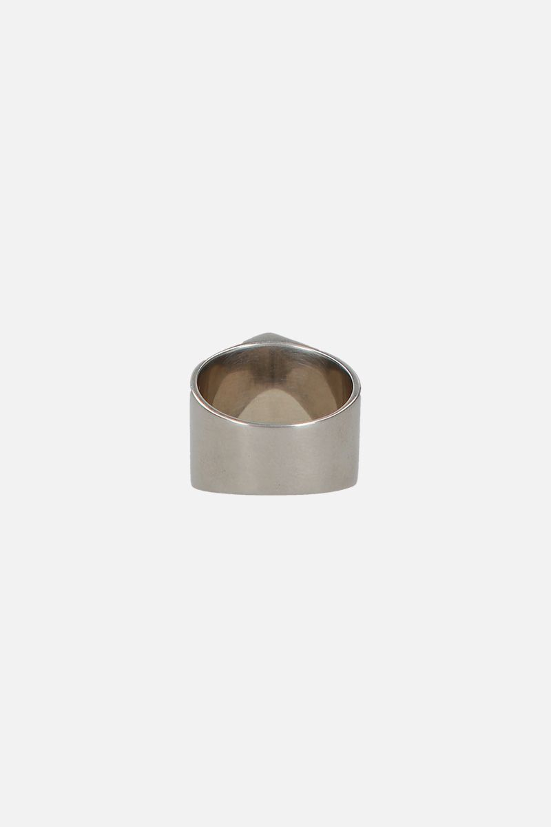GIVENCHY: Arrow brass ring Color Silver_2
