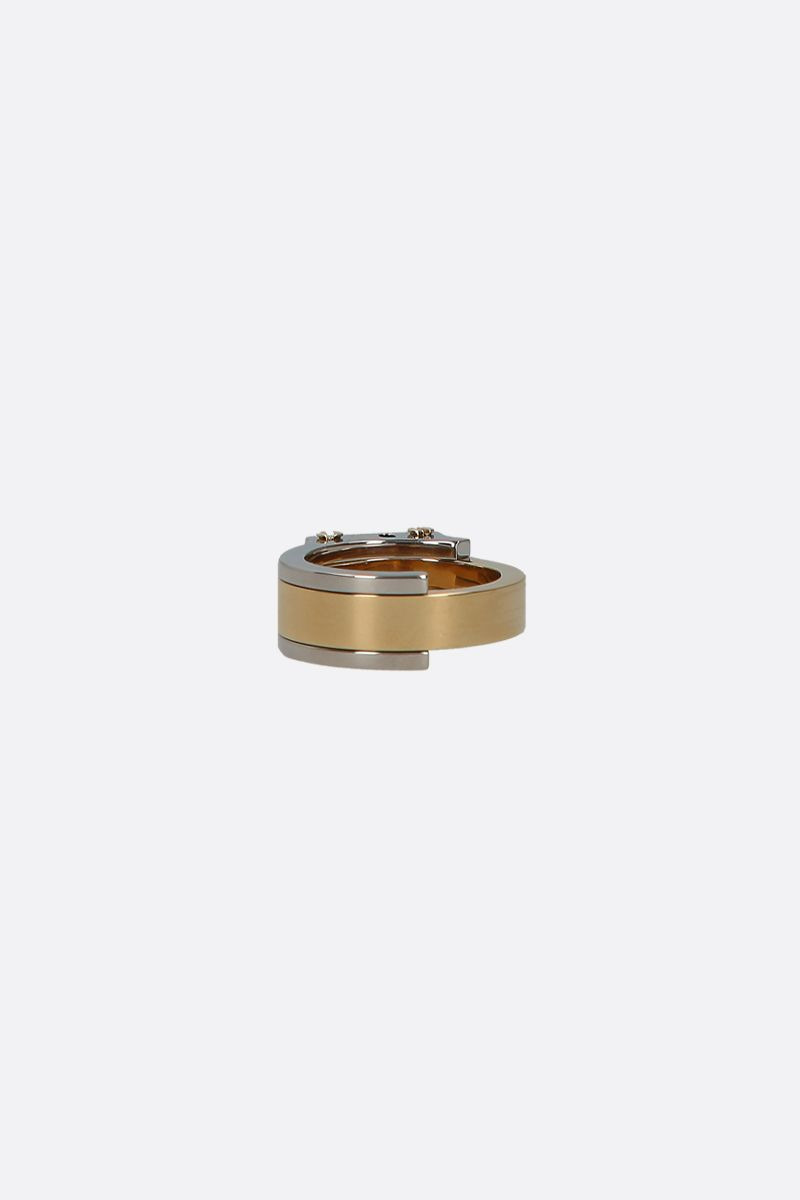 GIVENCHY: engraved logo brass ring Color Gold_2