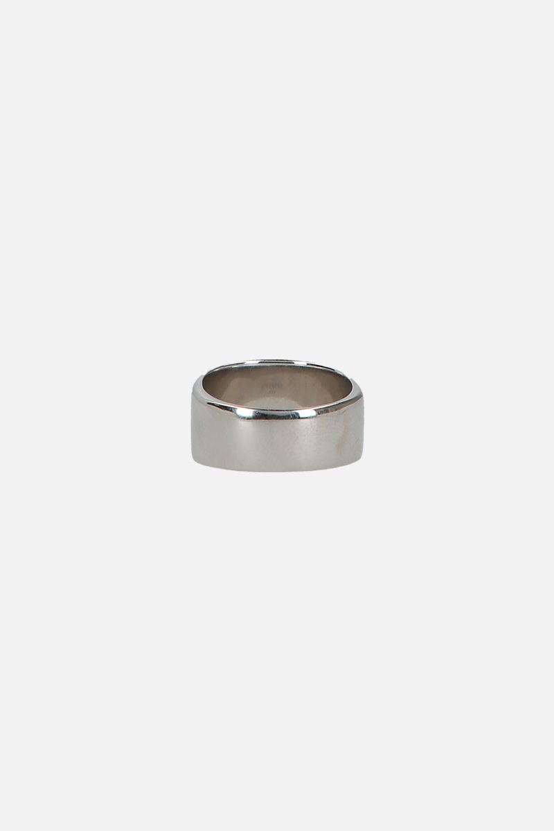 GIVENCHY: signet ring in brass and obsidian Color Black_2
