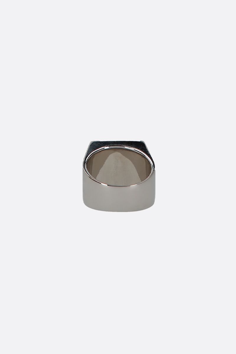 GIVENCHY: 4G signet ring in brass Color Silver_2