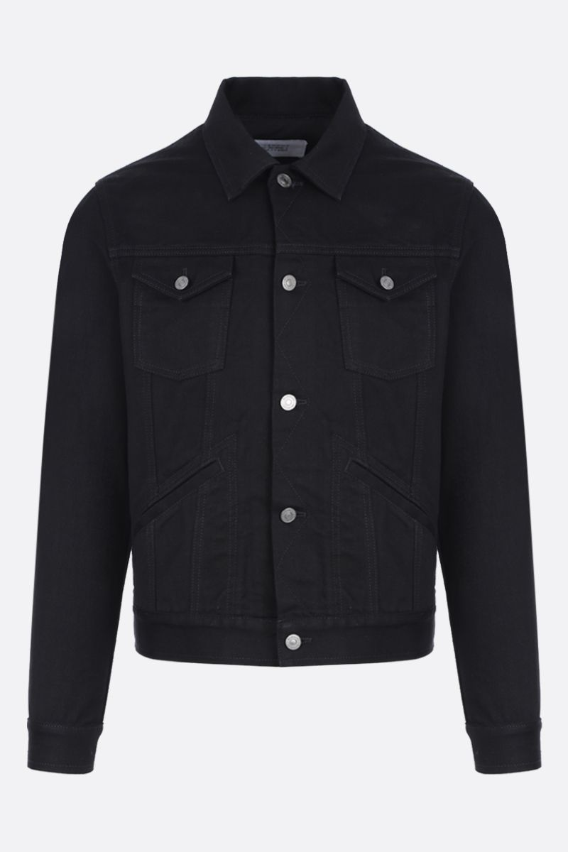 GIVENCHY: logo embroidered denim jacket Color Black_1
