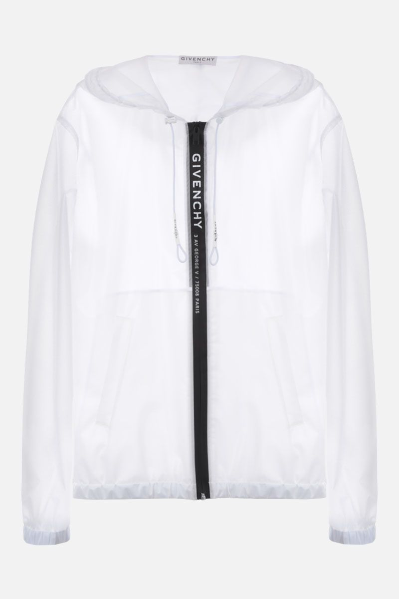 GIVENCHY: Adresse Givenchy windbreaker in transparent PVC Color White_1