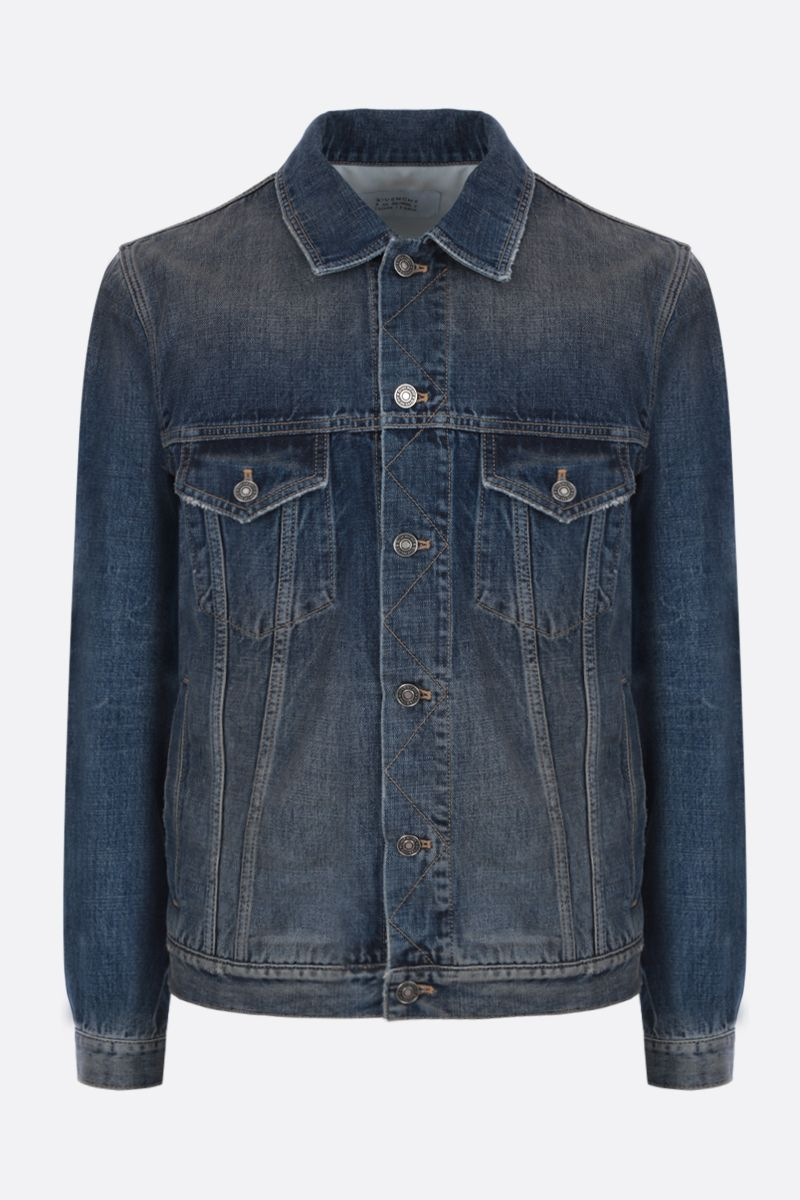 GIVENCHY: Atelier Givenchy print denim jacket Color Blue_1