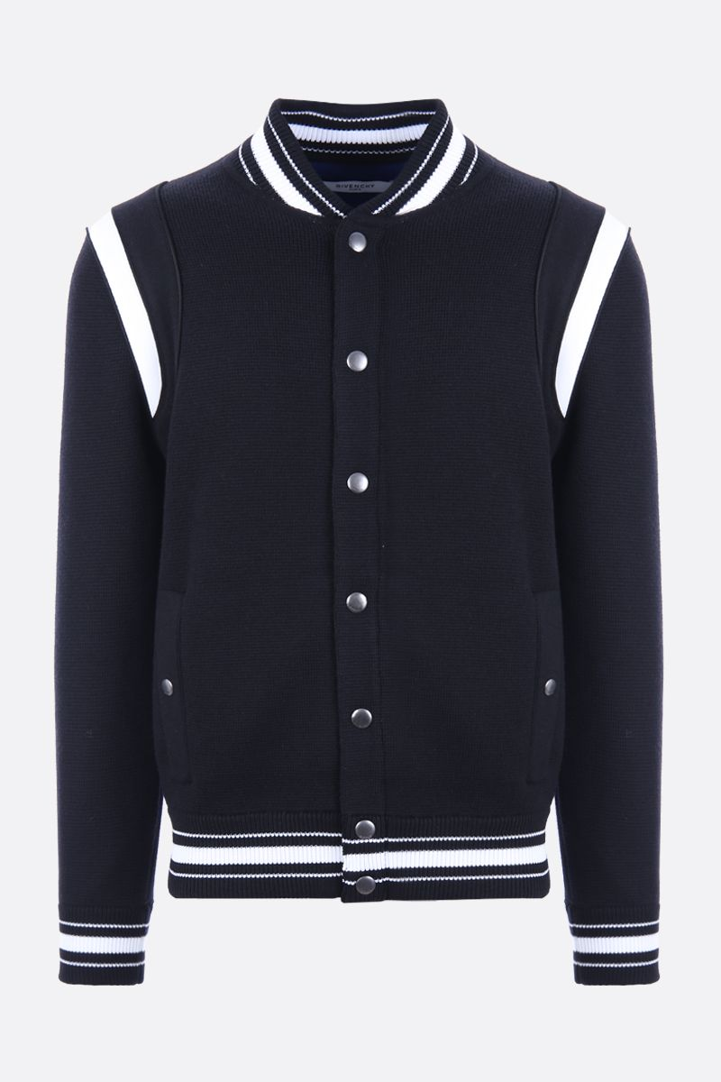 GIVENCHY: 4G embroidered wool knitted bomber jacket Color Black_1