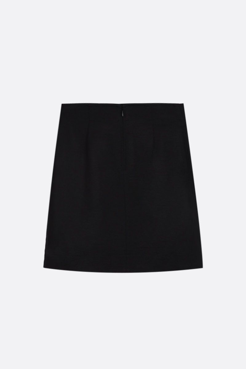 GIVENCHY: wool blend miniskirt with 4G buttons Color Black_2