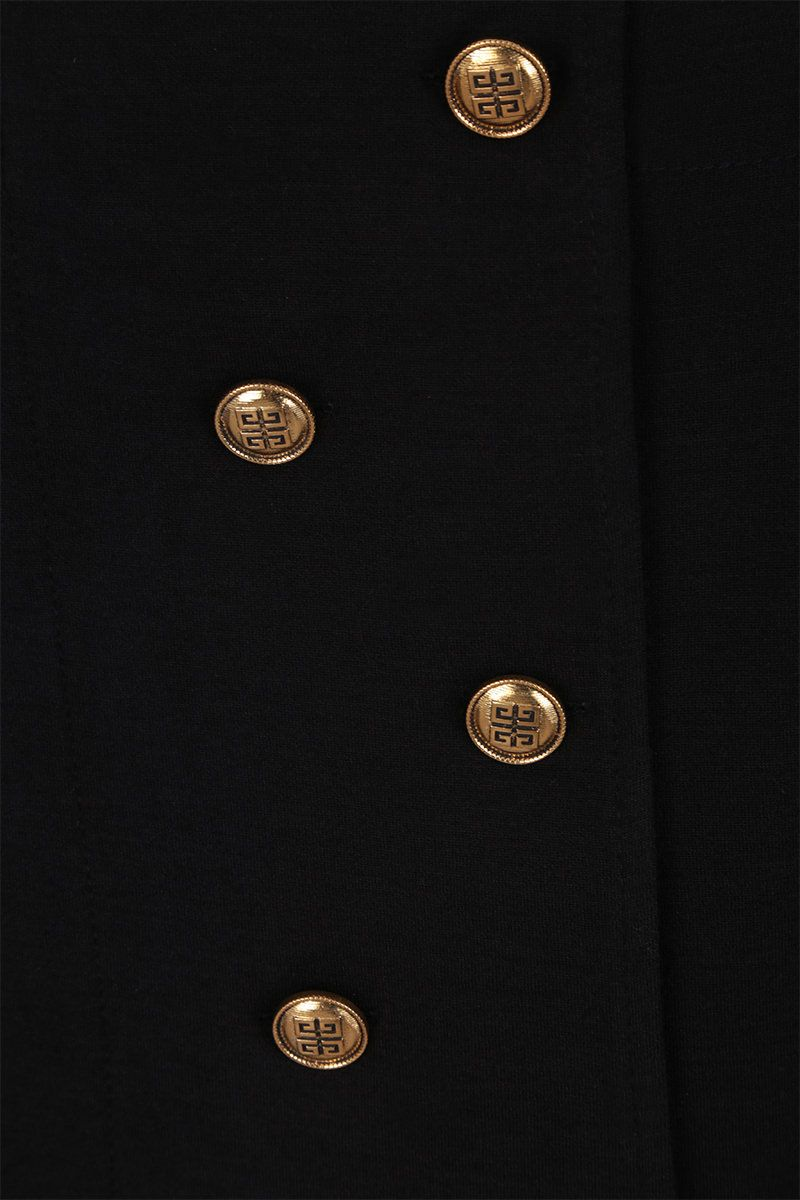 GIVENCHY: wool blend miniskirt with 4G buttons Color Black_3
