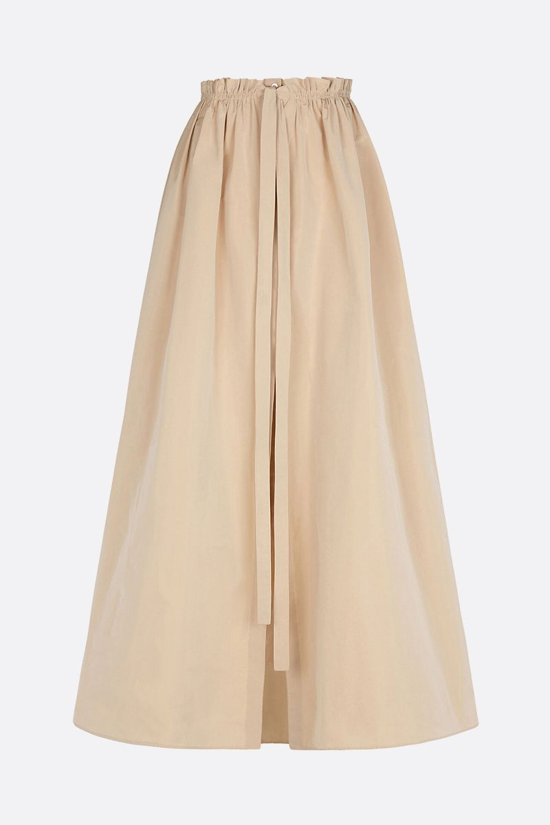 GIVENCHY: taffetà long flared skirt Color Neutral_1