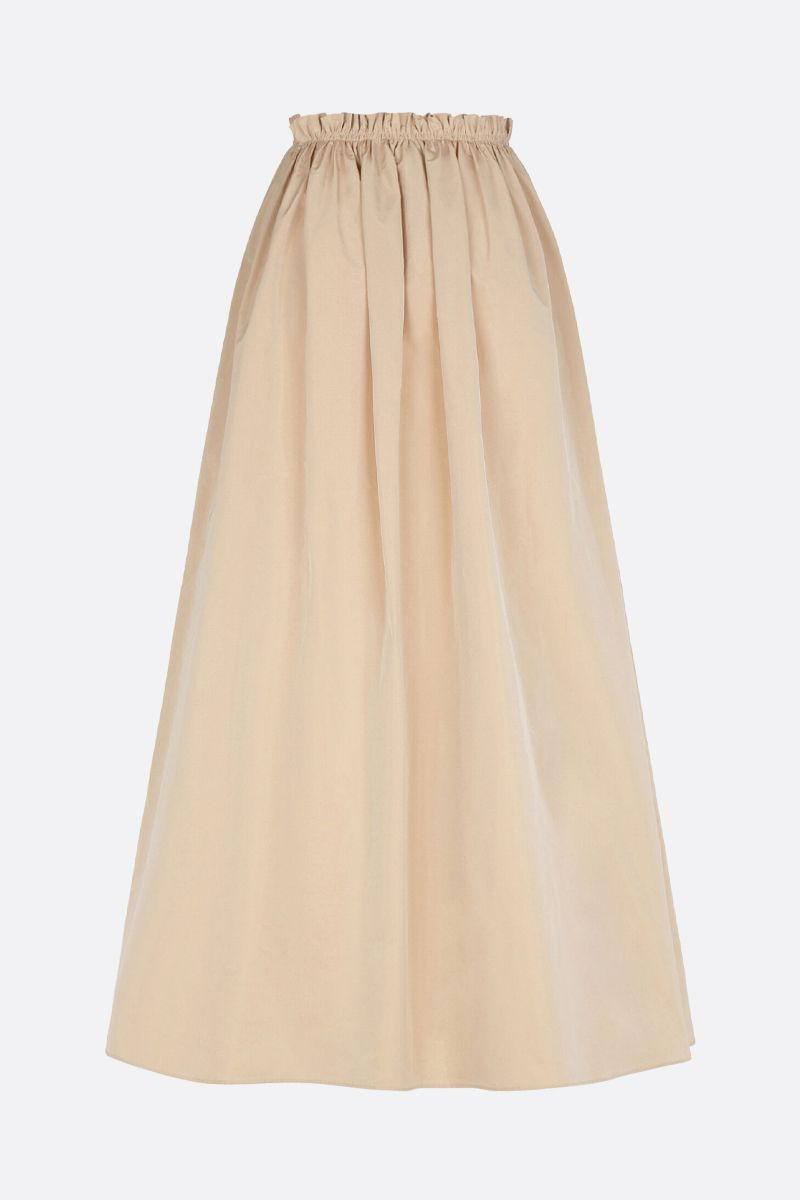 GIVENCHY: taffetà long flared skirt Color Neutral_2