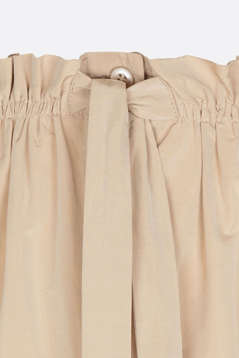 GIVENCHY: taffetà long flared skirt Color Neutral_3