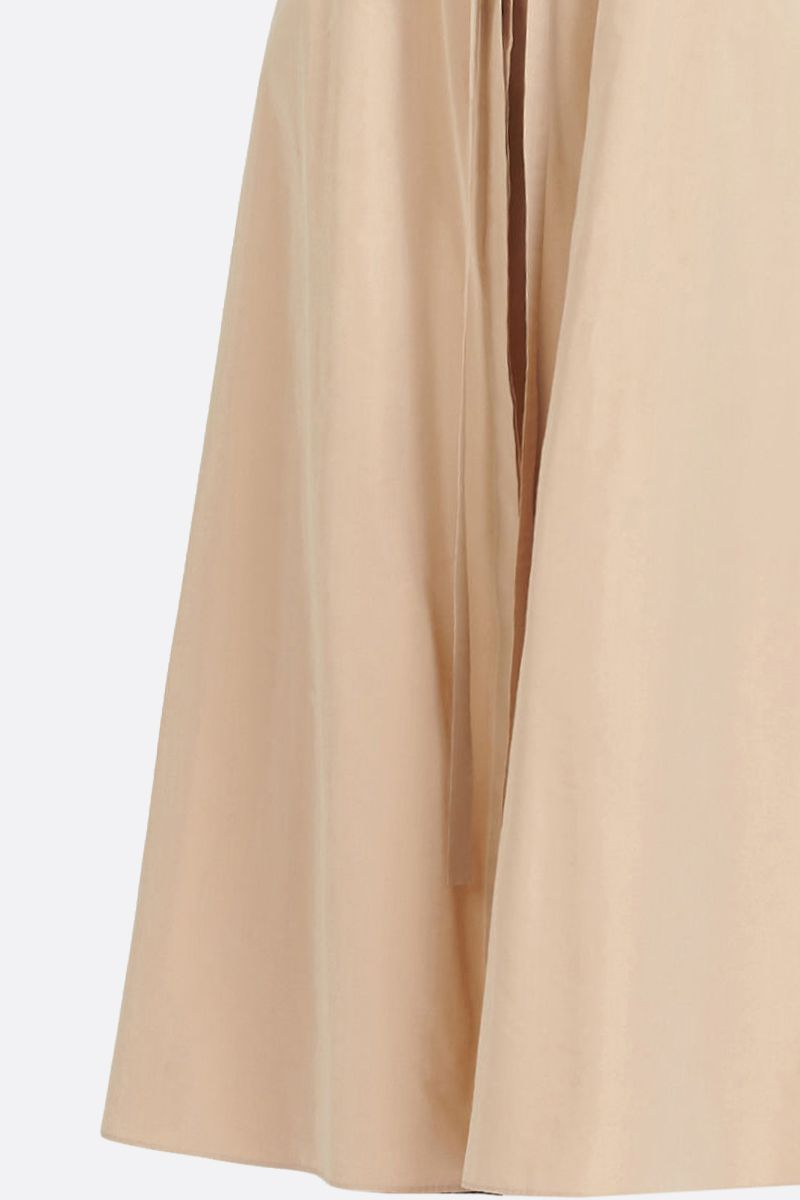 GIVENCHY: taffetà long flared skirt Color Neutral_4