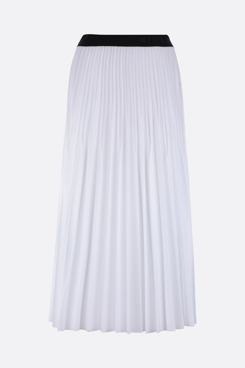 GIVENCHY: gonna plissè in nylon lucido Colore Bianco_1