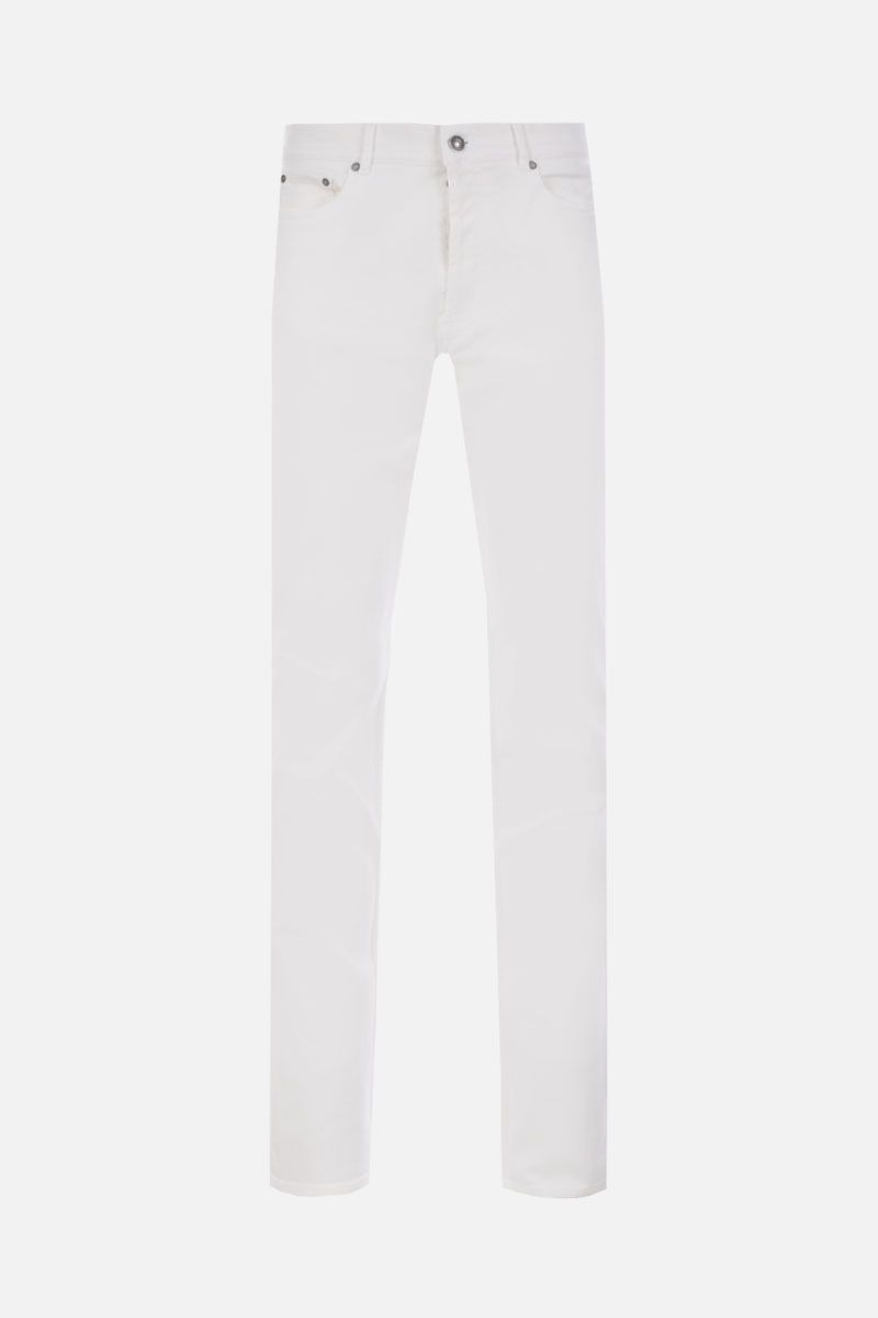 GIVENCHY: jeans slim-fit con patch logo Colore Bianco_1