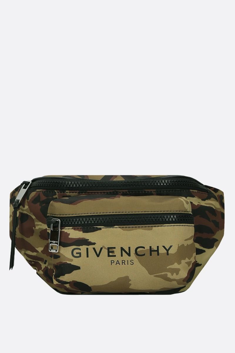 GIVENCHY: Light 3 belt bag in camouflage nylon Color Multicolor_1