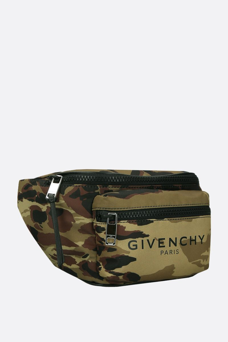 GIVENCHY: Light 3 belt bag in camouflage nylon Color Multicolor_2