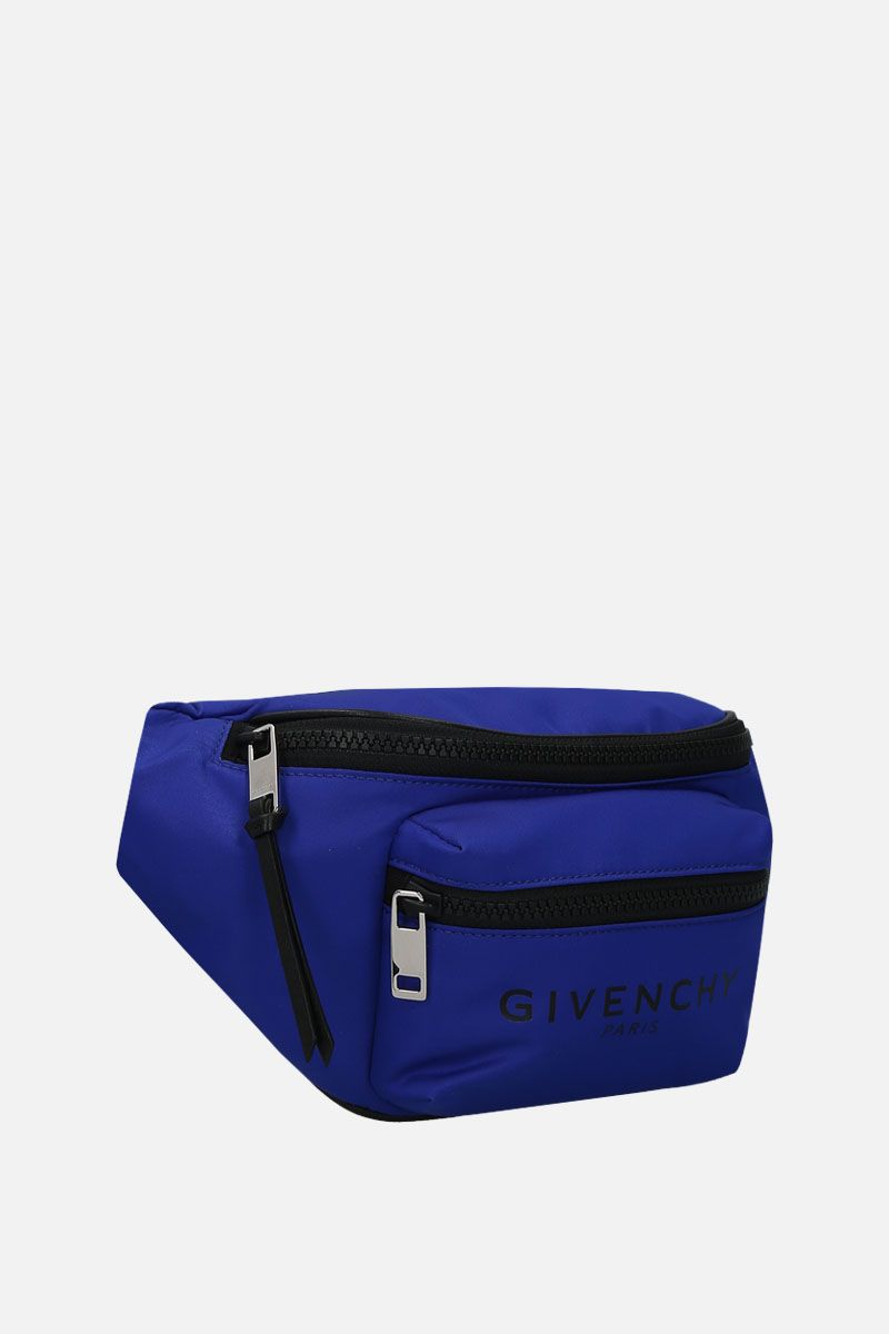 GIVENCHY: Light 3 nylon belt bag Color Blue_2