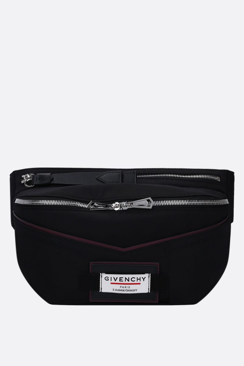 GIVENCHY: Givenchy Downtown belt bag in nylon Color Black_1
