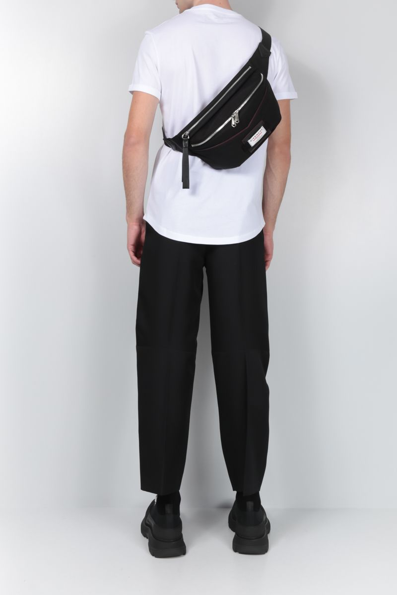 GIVENCHY: Givenchy Downtown belt bag in nylon Color Black_2