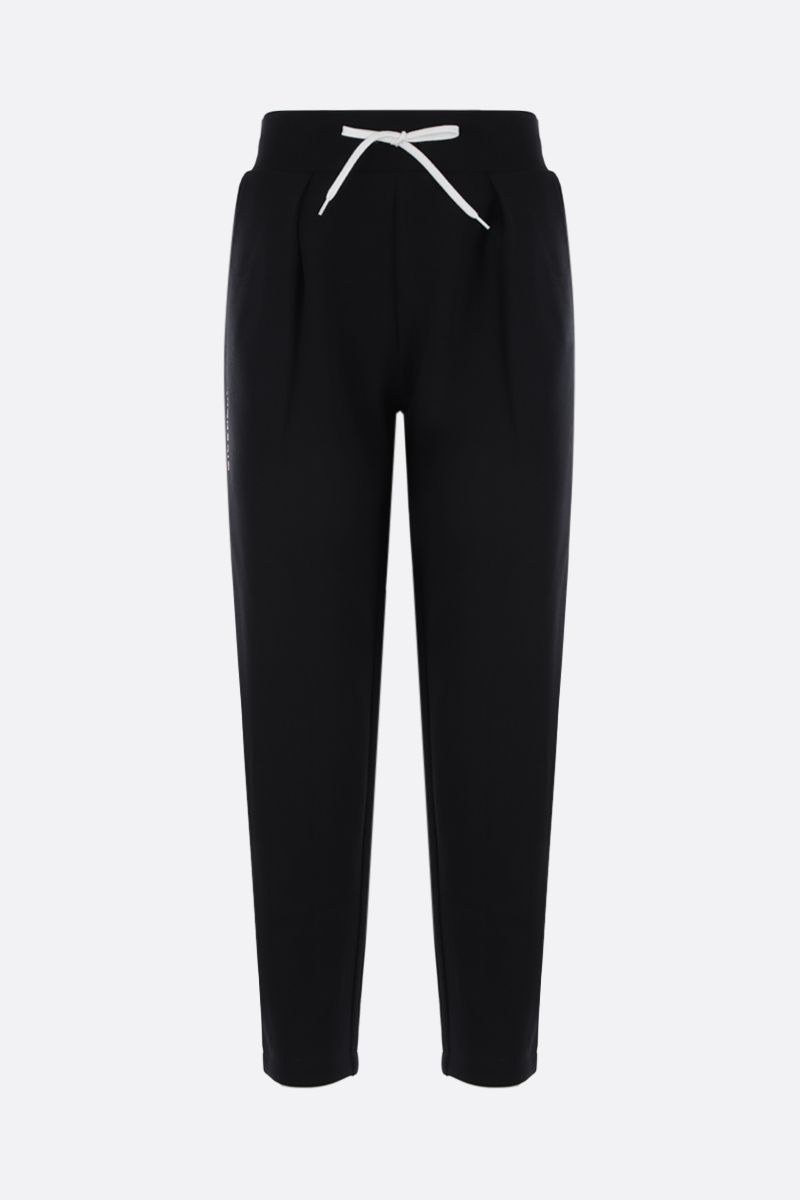 GIVENCHY: embroidered logo jersey joggers Color Black_1