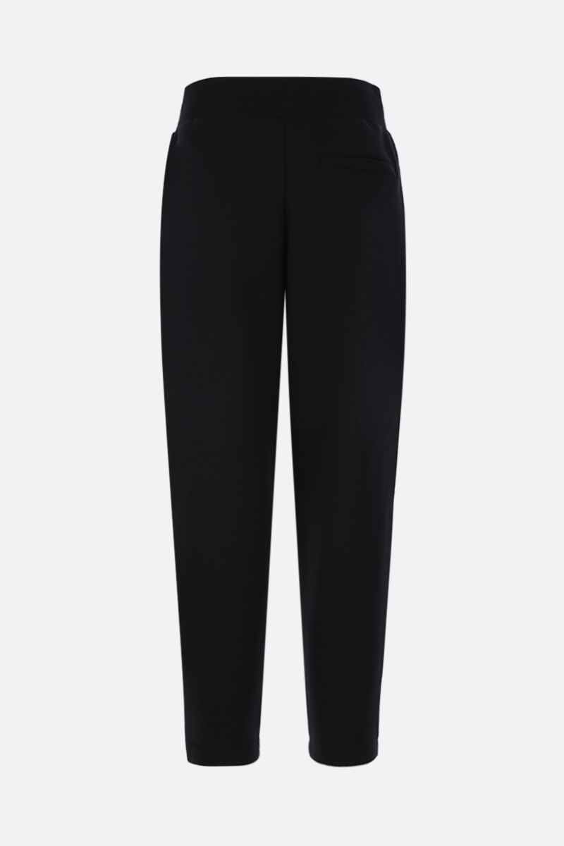 GIVENCHY: embroidered logo jersey joggers Color Black_2