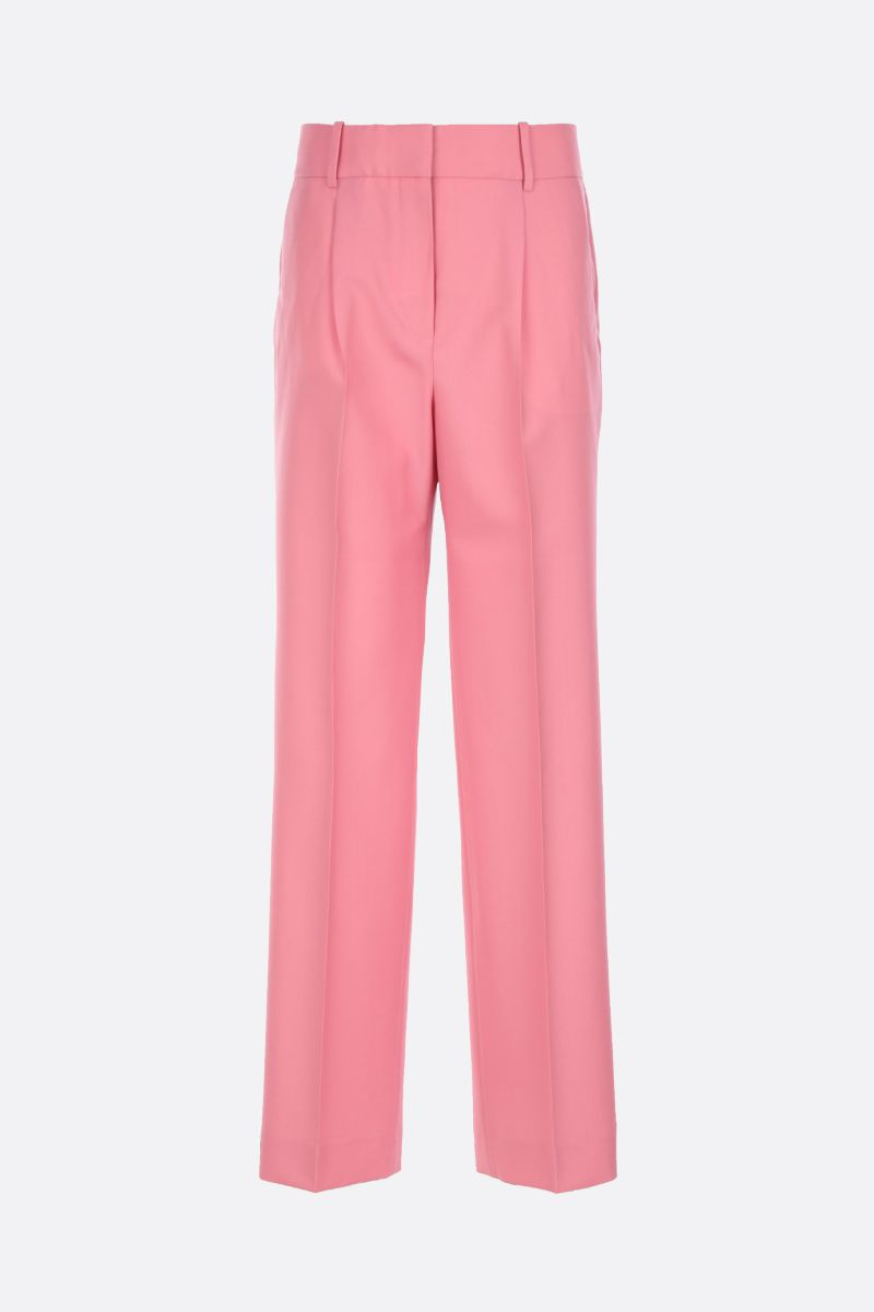 GIVENCHY: wool wide-leg pants Color Pink_1