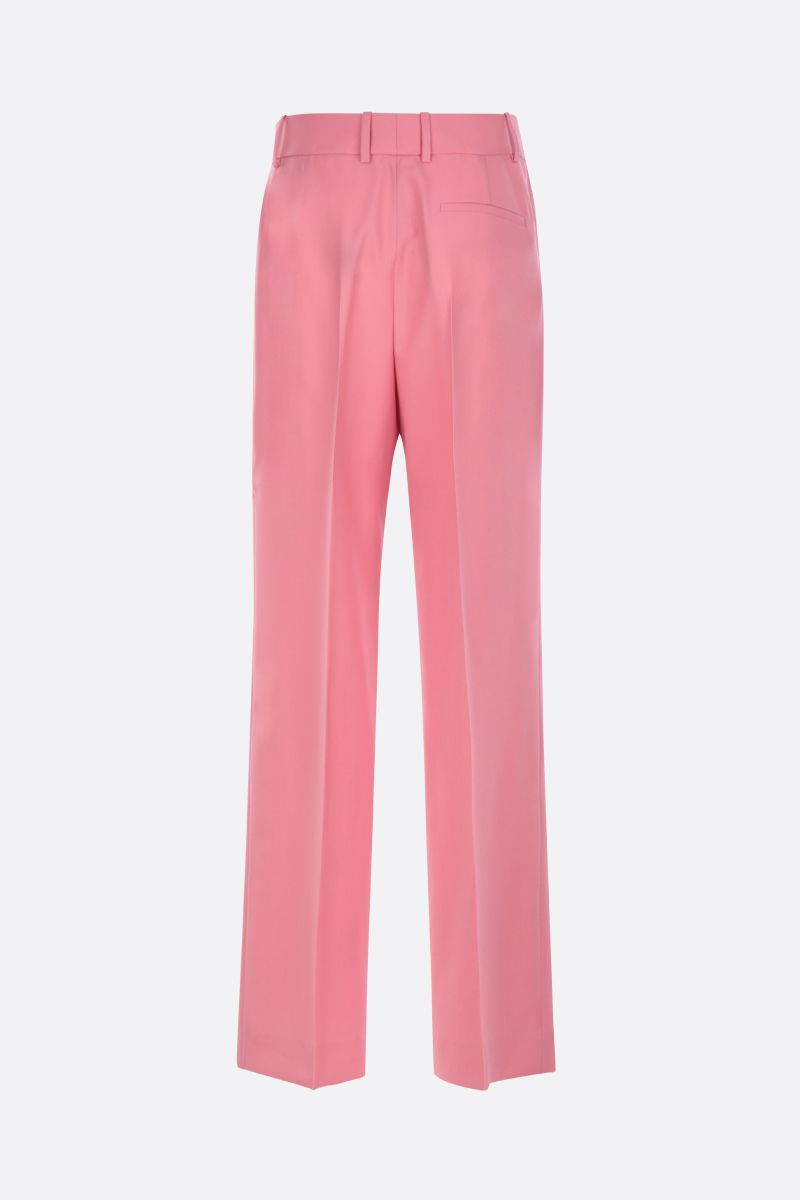GIVENCHY: wool wide-leg pants Color Pink_2