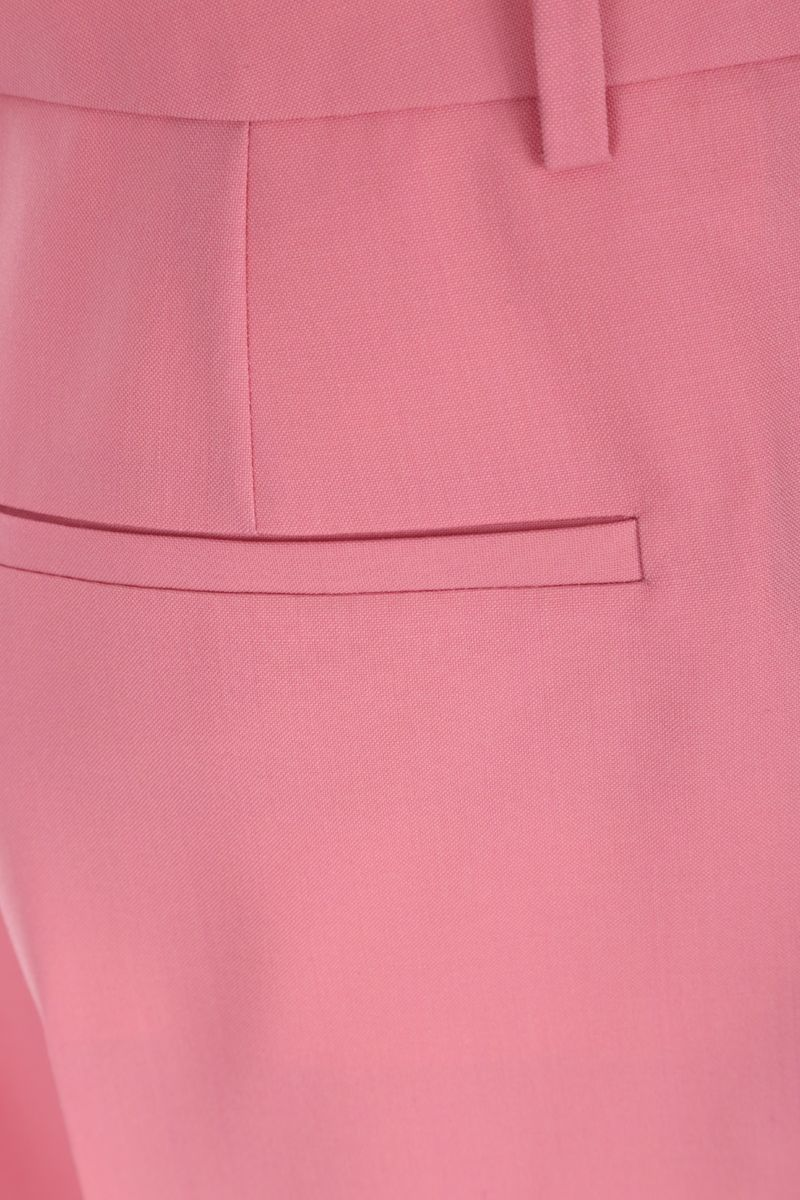 GIVENCHY: wool wide-leg pants Color Pink_3