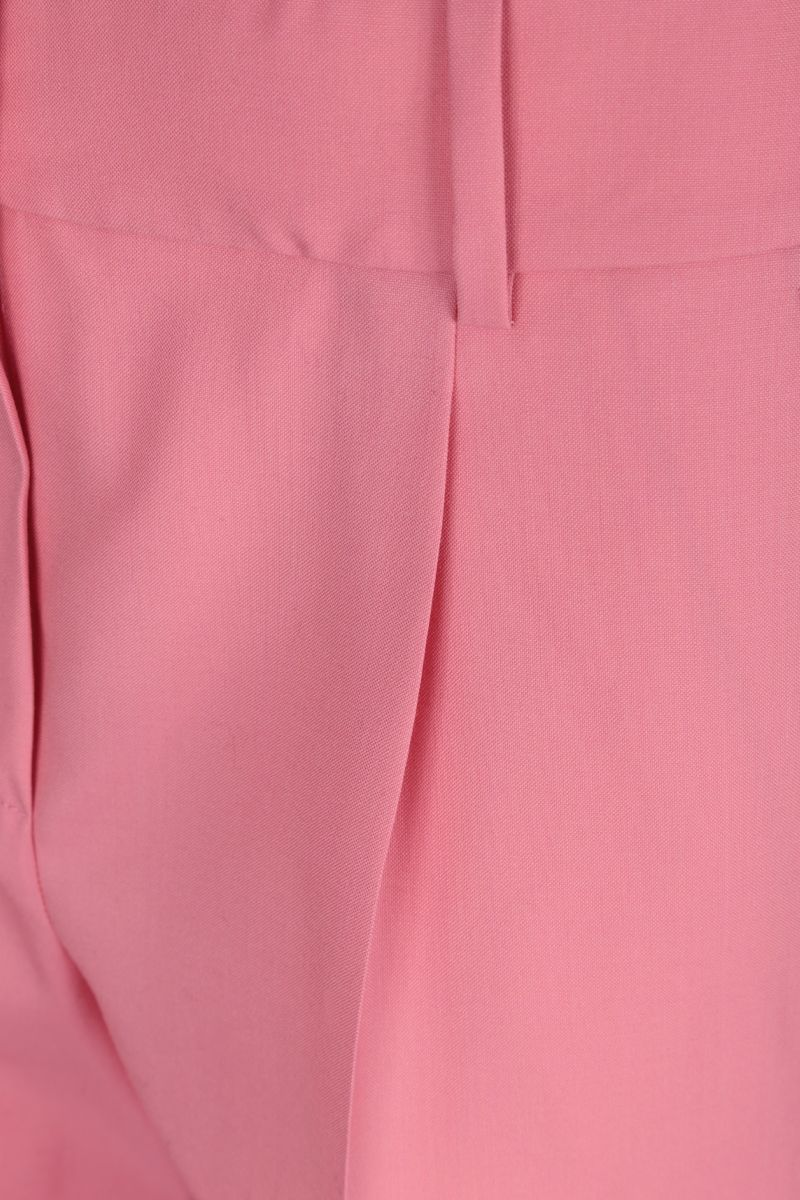 GIVENCHY: wool wide-leg pants Color Pink_4