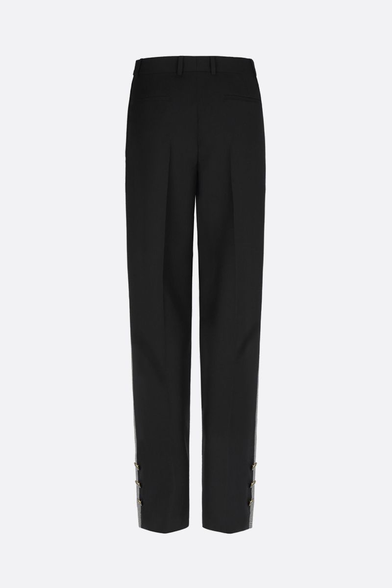 GIVENCHY: bicolour straight-fit pants Color Black_3