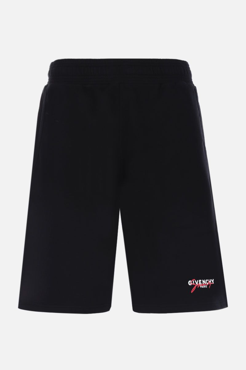 GIVENCHY: Givenchy Paris cotton shorts Color Black_1
