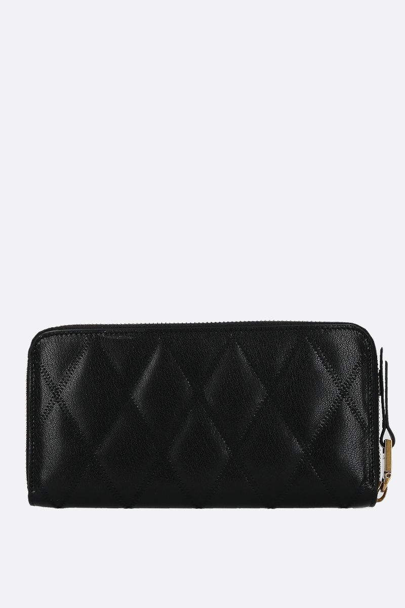 GIVENCHY: GV3 quilted leather zip-around wallet Color Black_2