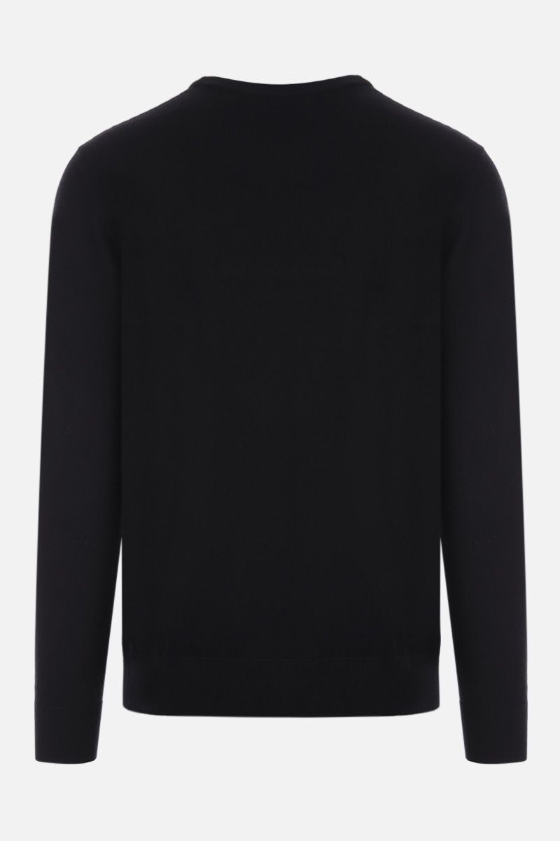 GIVENCHY: logo patch wool pullover Color Black_2