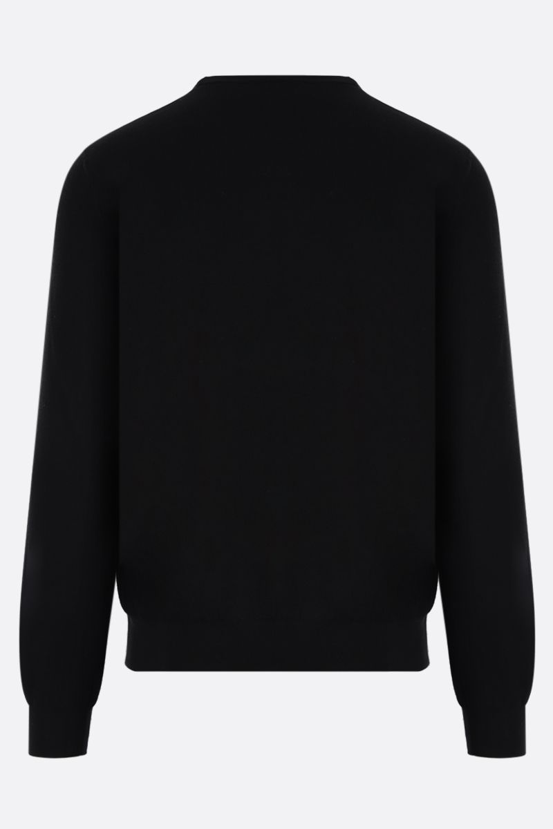 GIVENCHY: perforated logo cotton pullover Color Black_2