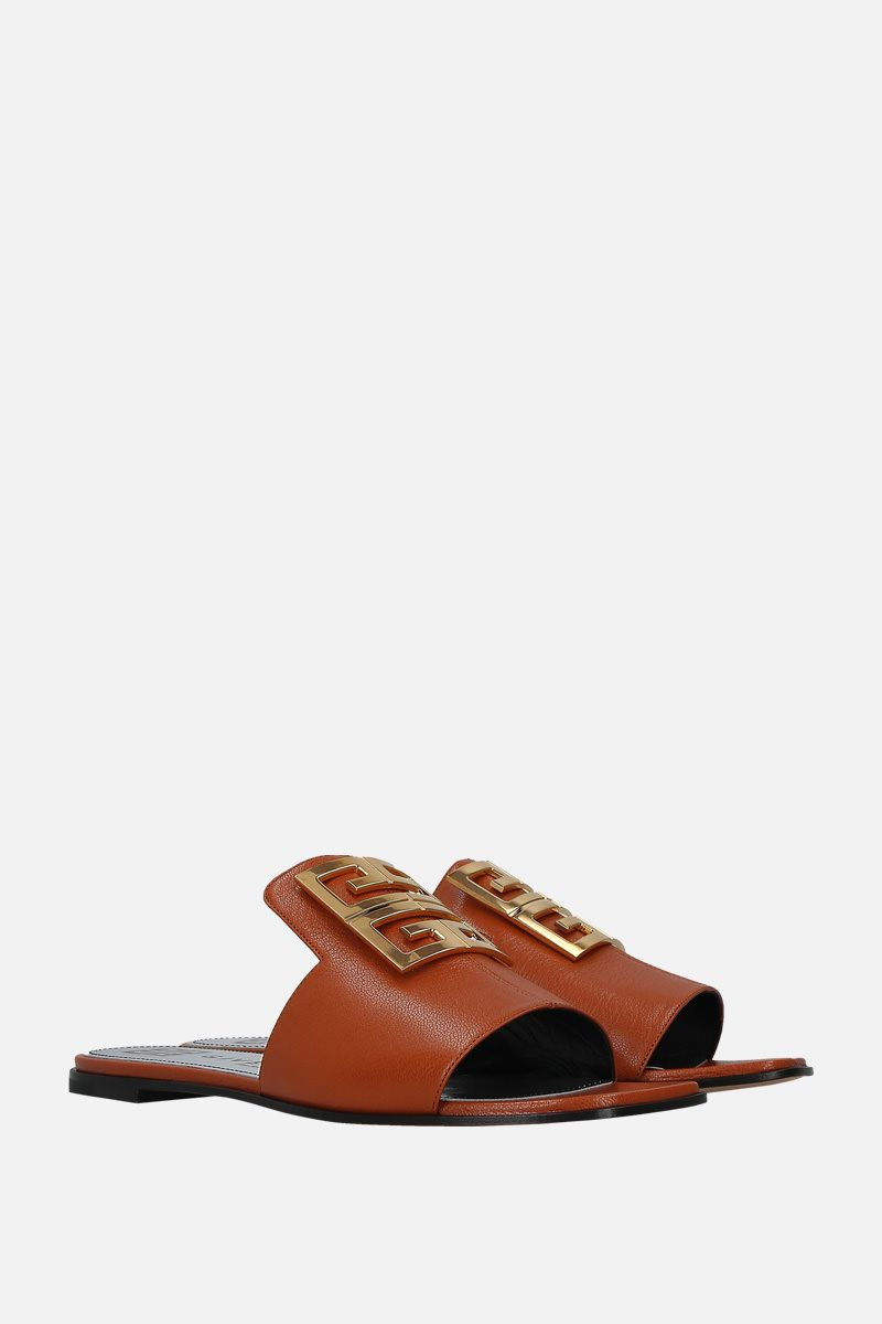 GIVENCHY: 4G flat sandals in grainy leather_2