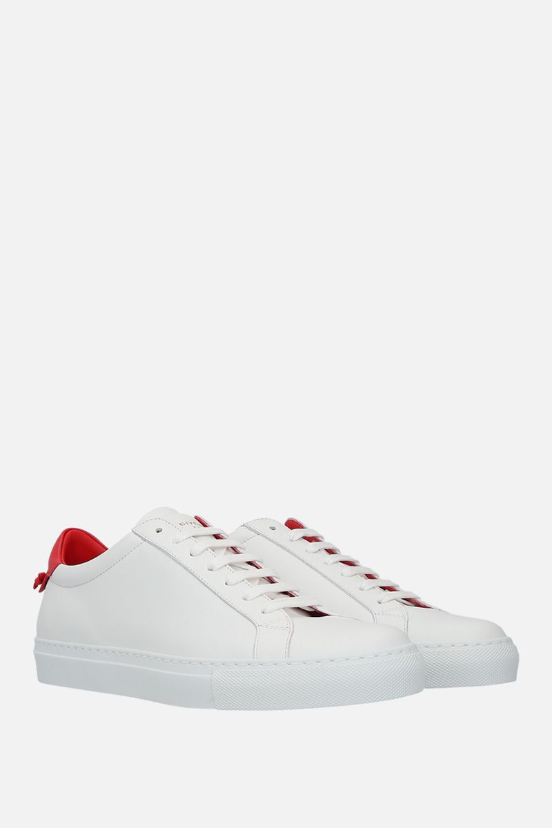 GIVENCHY: sneaker Urban Street in pelle liscia Colore Bianco_3