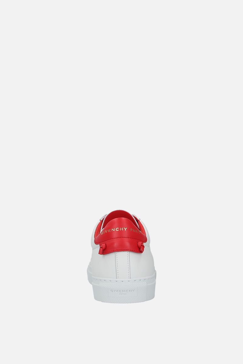 GIVENCHY: sneaker Urban Street in pelle liscia Colore Bianco_4