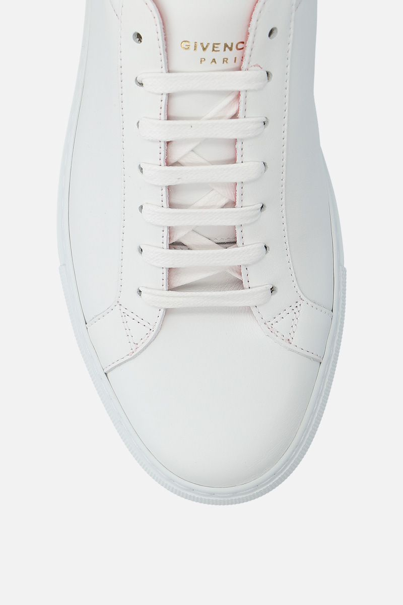 GIVENCHY: sneaker Urban Street in pelle liscia Colore Bianco_5