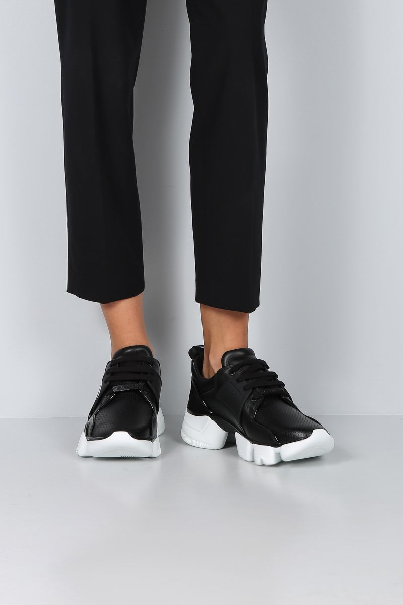 GIVENCHY: Jaw sneakers in perforated leather and suede Color Black_2