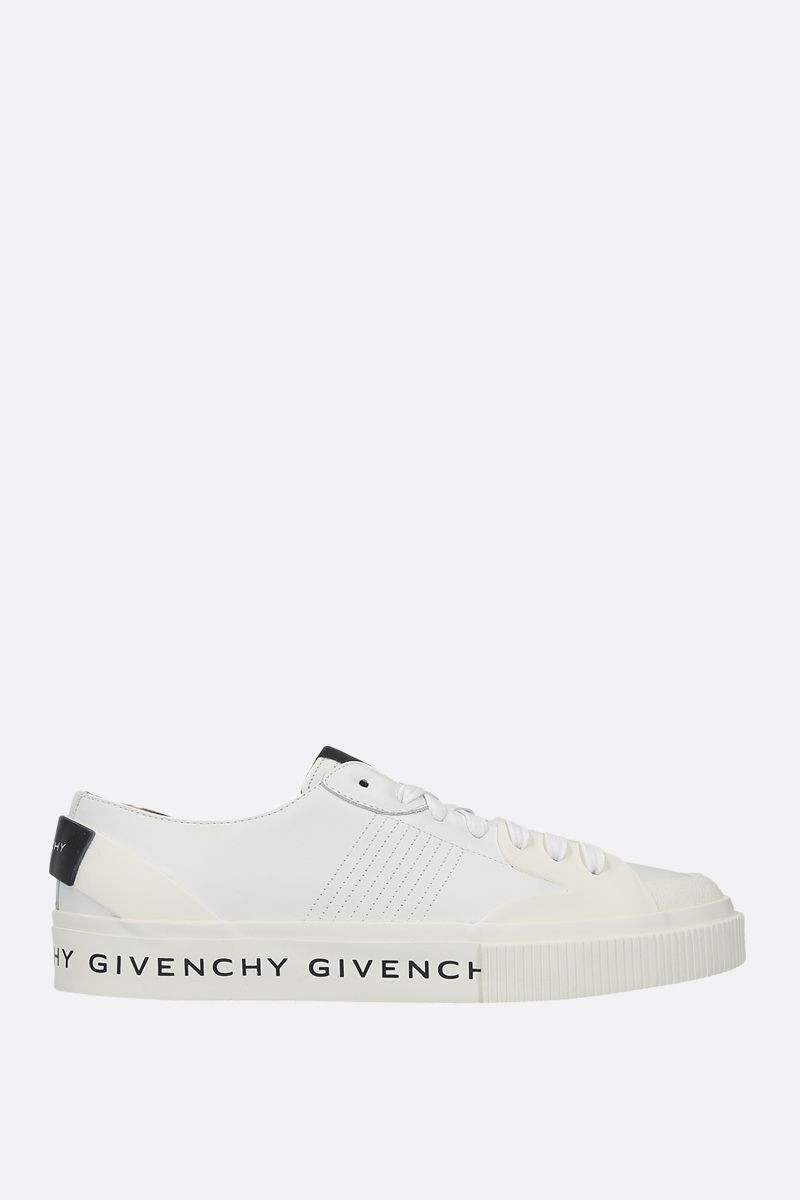 GIVENCHY: Tennis Light sneakers in smooth leather and rubber Color White_1