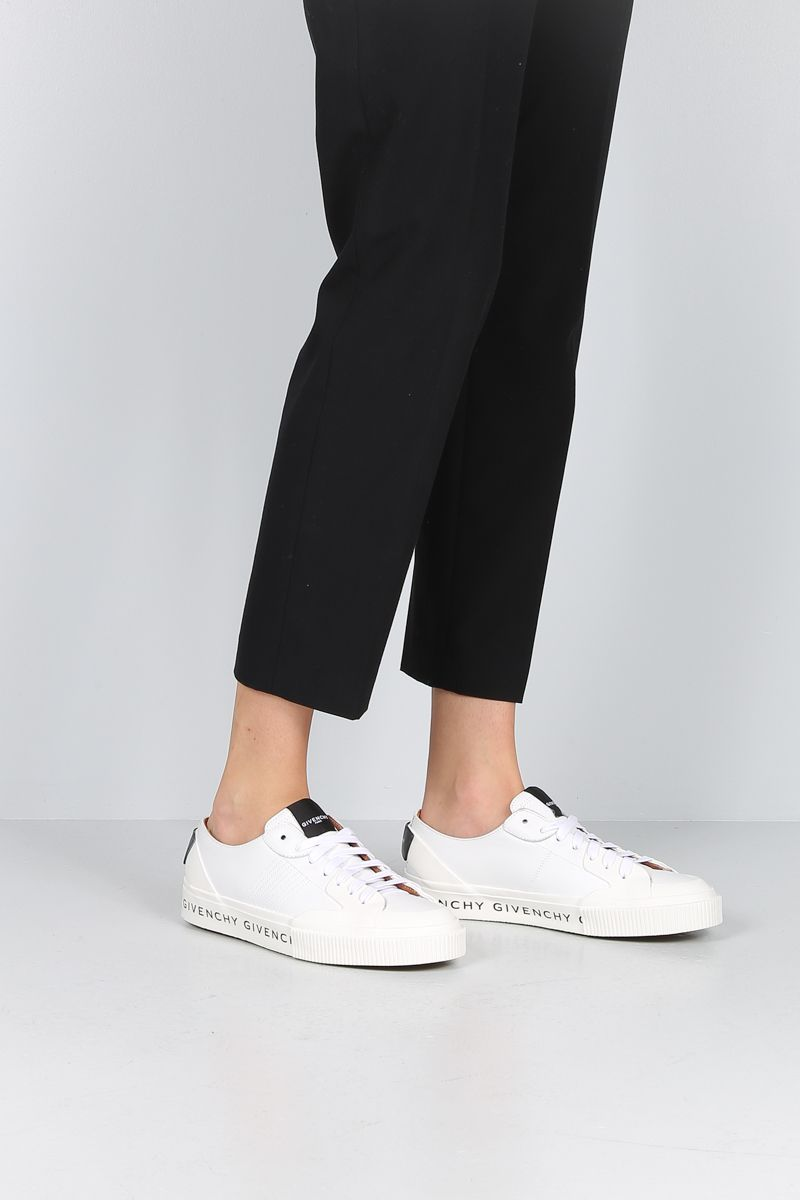 GIVENCHY: Tennis Light sneakers in smooth leather and rubber Color White_2