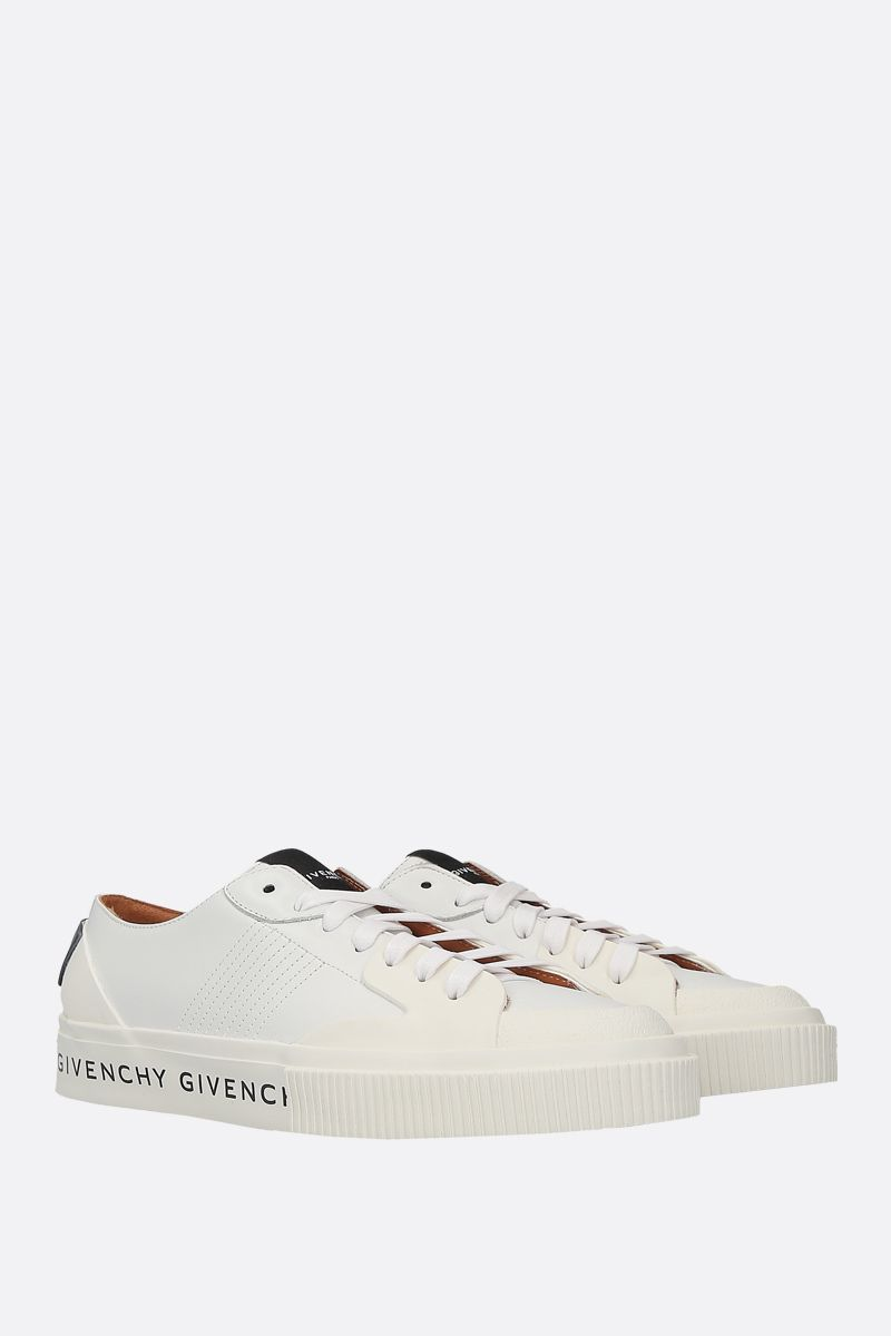 GIVENCHY: Tennis Light sneakers in smooth leather and rubber Color White_3