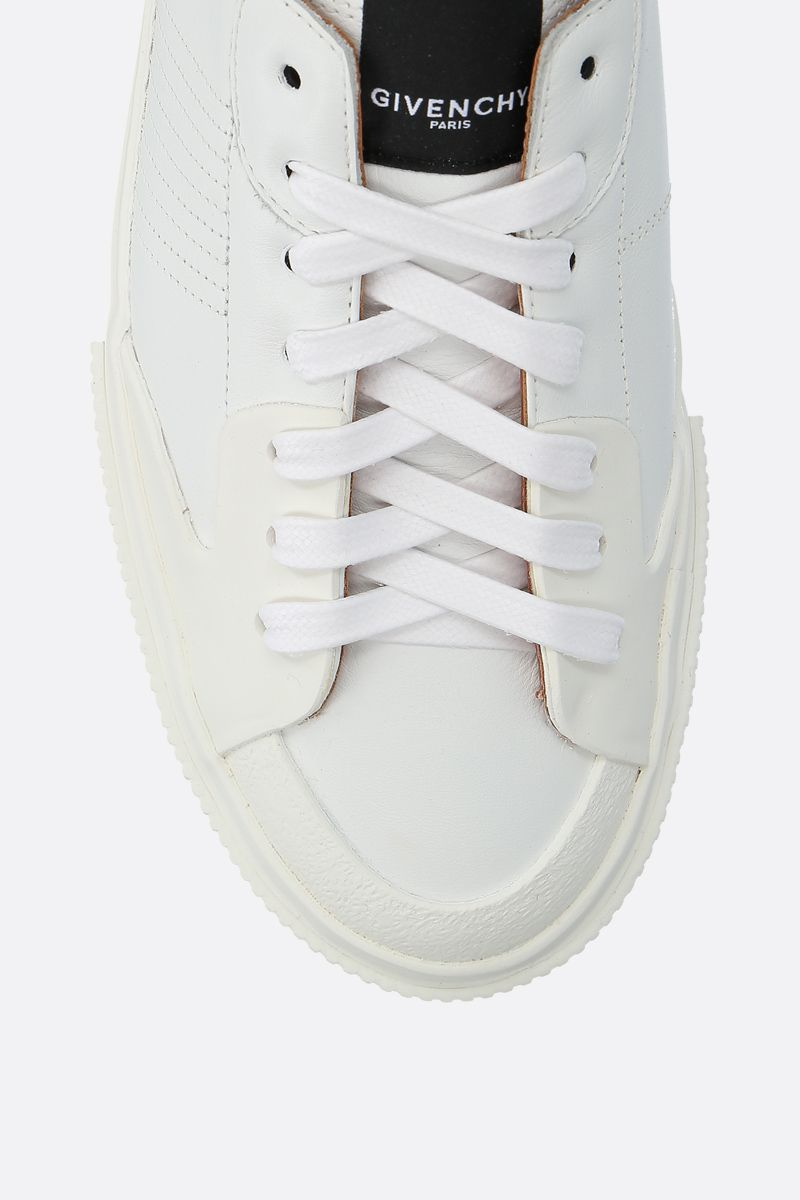 GIVENCHY: Tennis Light sneakers in smooth leather and rubber Color White_5