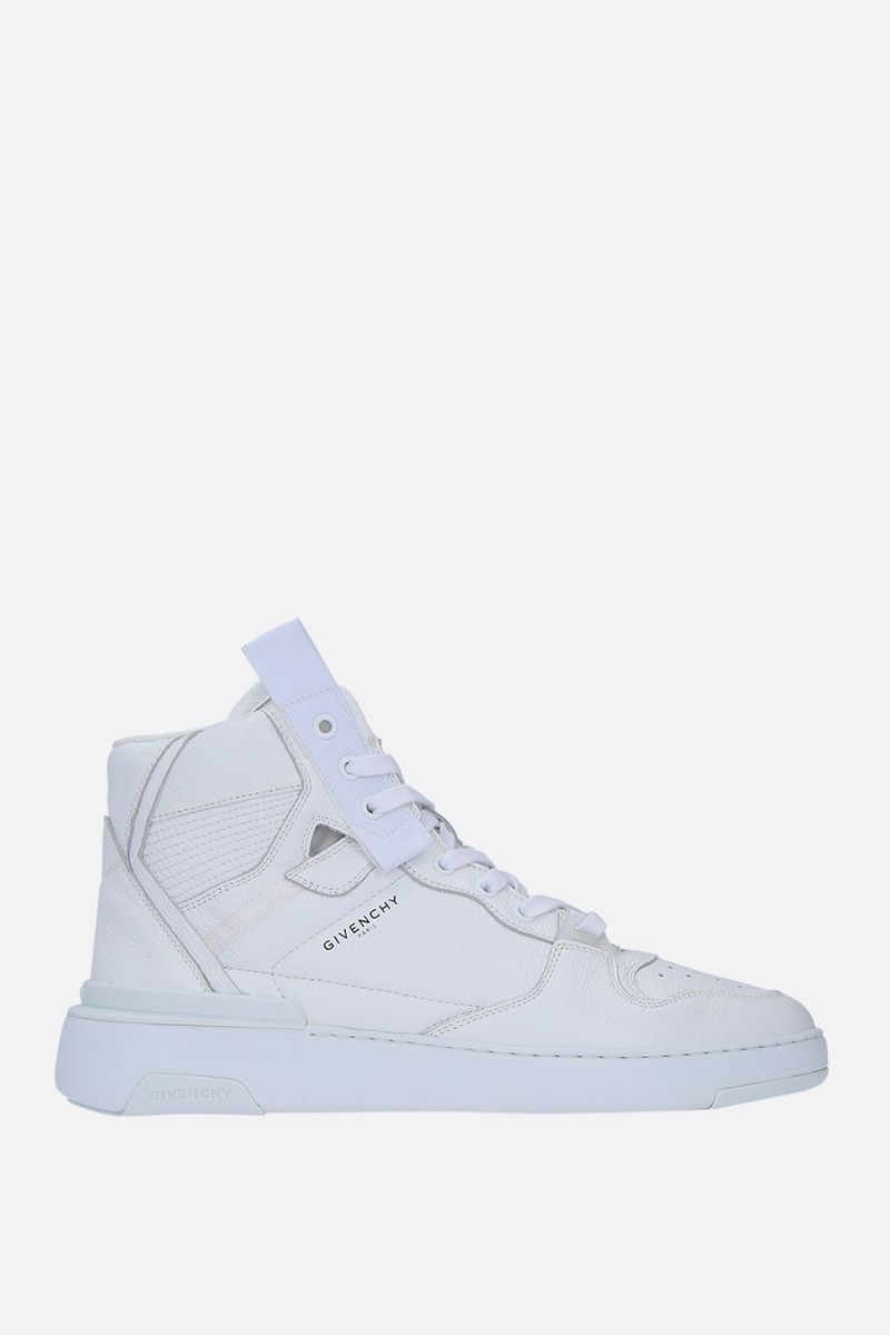 GIVENCHY: Wing sneakers in grainy leather Color White_1