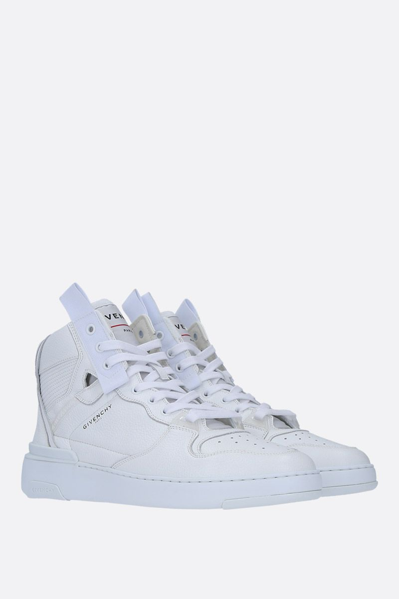 GIVENCHY: Wing sneakers in grainy leather Color White_2