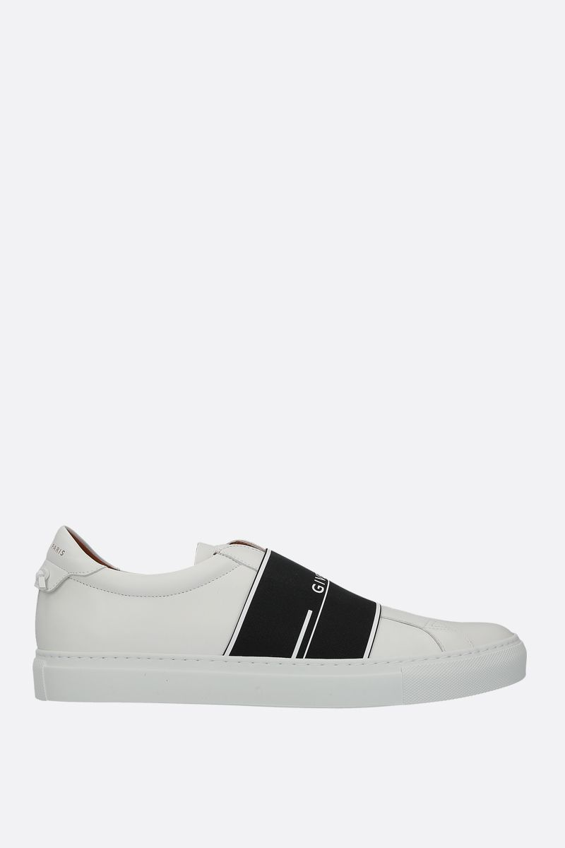 GIVENCHY: sneaker Urban Street in pelle liscia Colore Bianco_1