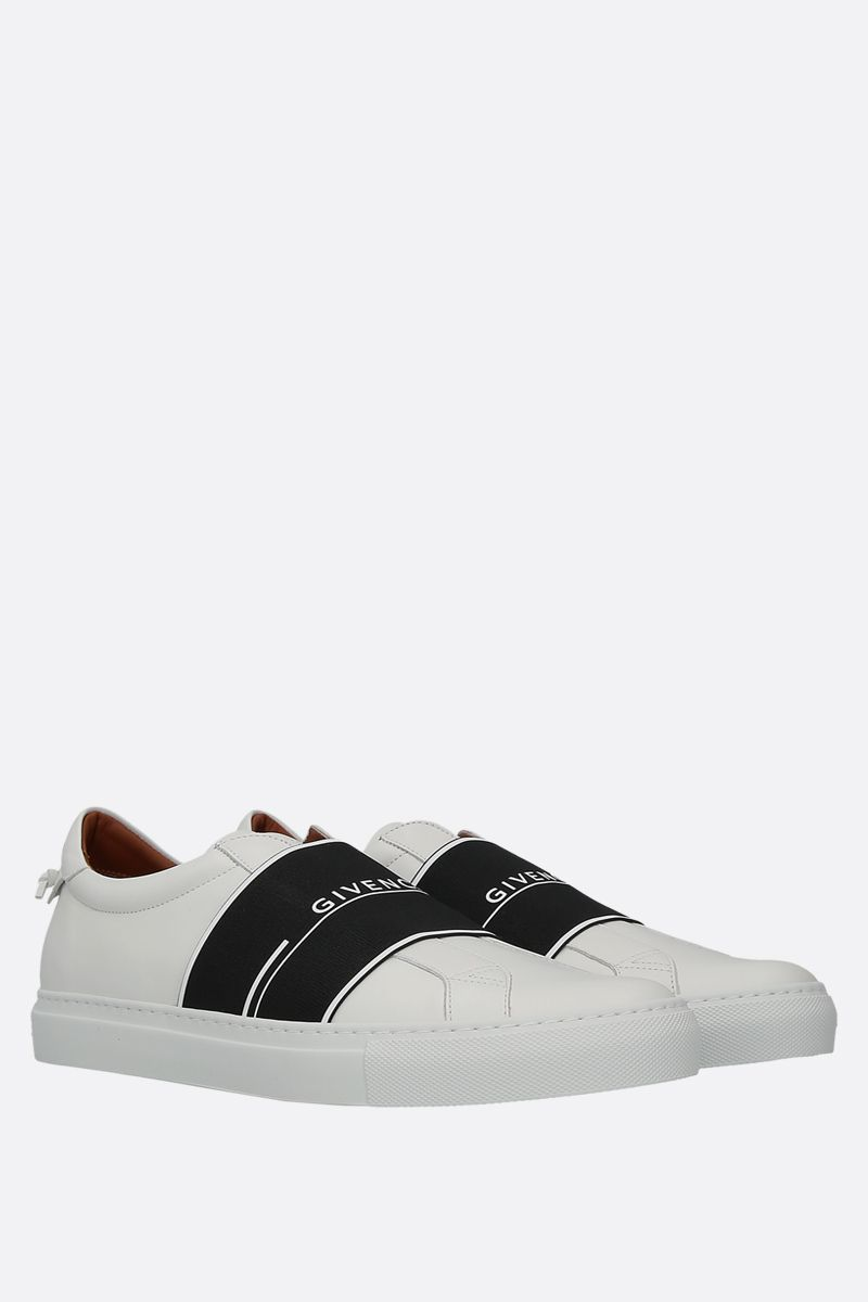 GIVENCHY: sneaker Urban Street in pelle liscia Colore Bianco_2