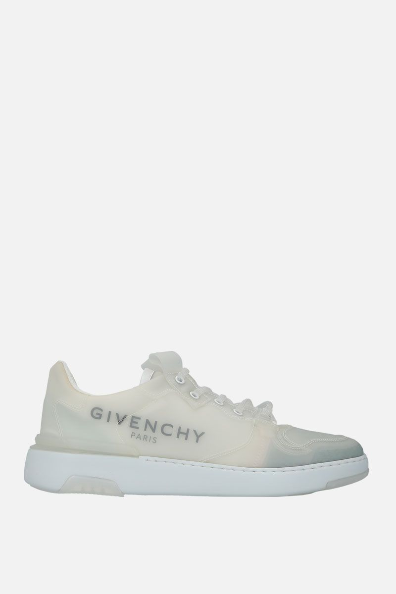 GIVENCHY: sneaker Wing in gomma traslucida Colore Bianco_1