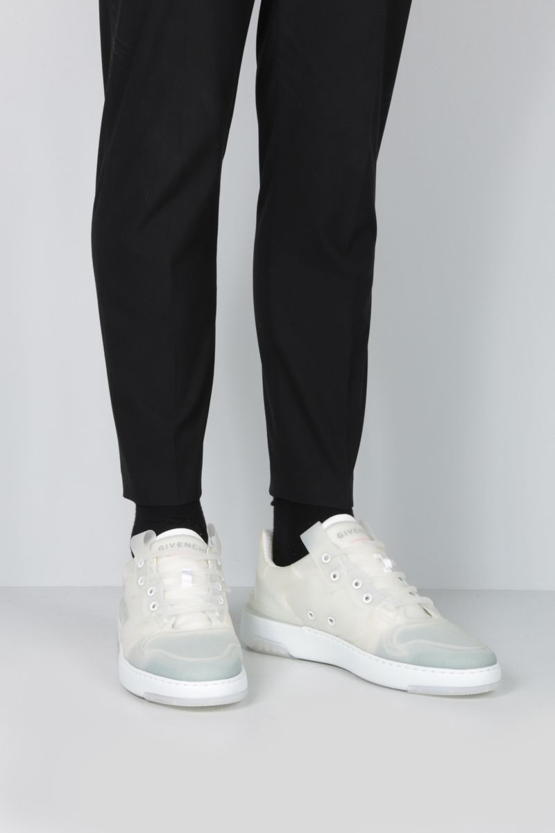 GIVENCHY: sneaker Wing in gomma traslucida Colore Bianco_2