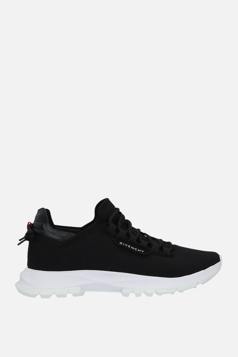 GIVENCHY: Spectre stretch knit and leather sneakers Color Black_1